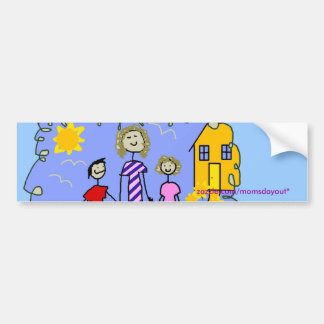 Mom and Us, Going for a Walk Bumper Sticker