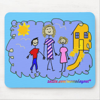 Mom and Us, Going for a Walk Mouse Pad