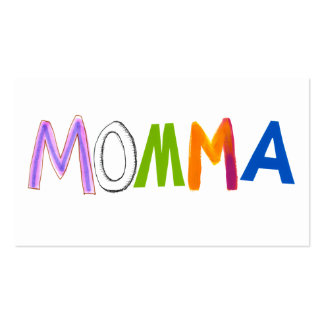 Mom art momma mommy mother fun colorful business card