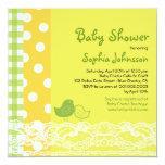 Mom & Baby Bird Lace Cute Baby Shower Invite