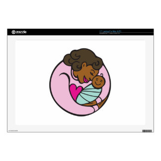 """Mom & Baby Decals For 17"""" Laptops"""