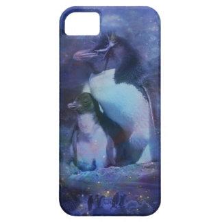Mom & Baby Penguin in Moonlight iPhone SE/5/5s Case