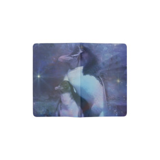 Mom & Baby Penguin in Moonlight Pocket Moleskine Notebook