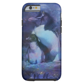 Mom & Baby Penguin in Moonlight Tough iPhone 6 Case