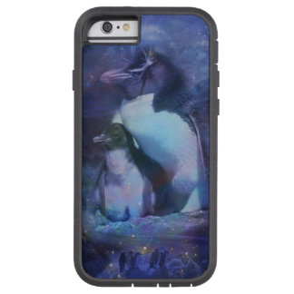 Mom & Baby Penguin in Moonlight Tough Xtreme iPhone 6 Case