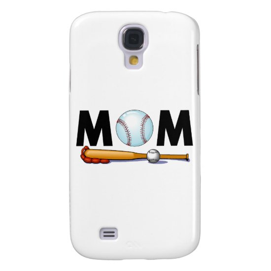 Mom Baseball Bat and Ball Samsung S4 Case