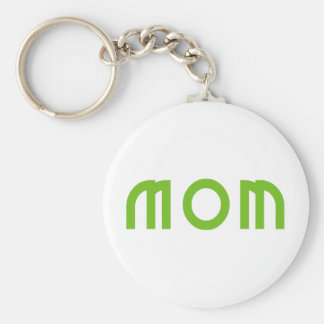 Mom Basic Round Button Keychain