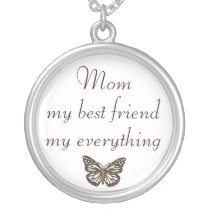 Mom best friend everything necklace