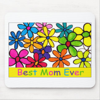mom best mom ever flowers mouse pad
