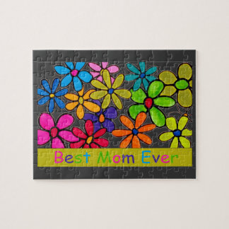 mom best mom ever flowers puzzle