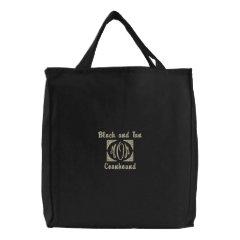MOM, Black and Tan, Coonhound embroideredbag