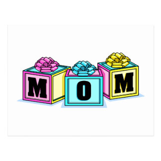 Mom (Blocks) Postcard