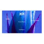 Mom Blue Rose Profile Card Business Card