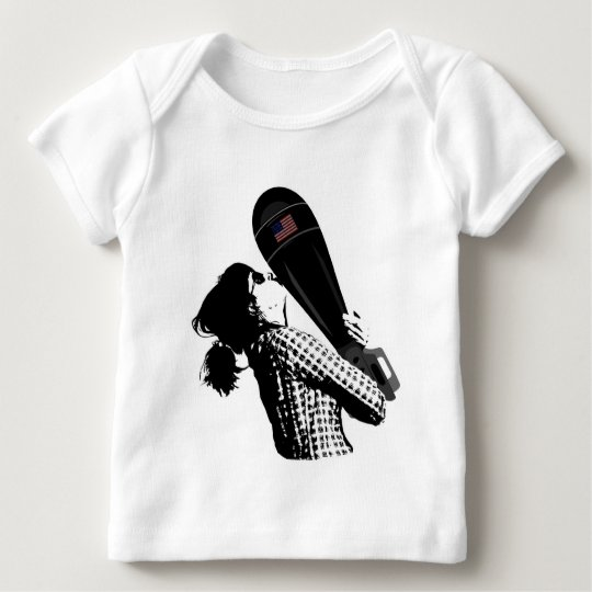 Mom Bomb Banksy Style Baby T-Shirt