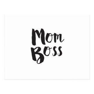 Mom Boss Mother's Day Gift Postcard
