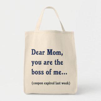 Mom Boss of Me Grocery Tote Bag