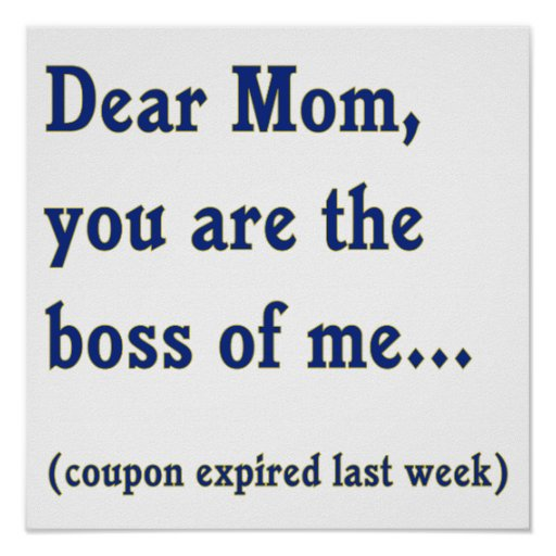 Mom Boss of Me Posters