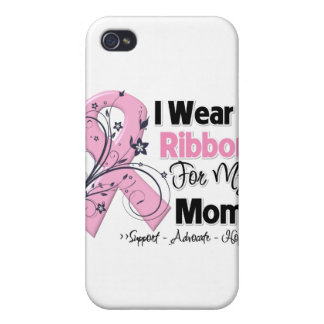 Mom - Breast Cancer Pink Ribbon Covers For iPhone 4