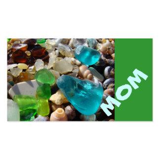 MOM Business Cards Beach Seaglass Agates