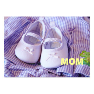 MOM business cards custom Fashion Moms Baby Shoes