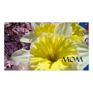 Mom Business Cards Daffodil Flowers Spring Floral