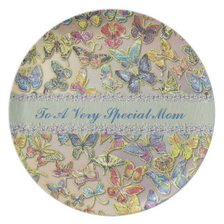 Mom Butterfly Collector GIFT CUSTOM PLATE