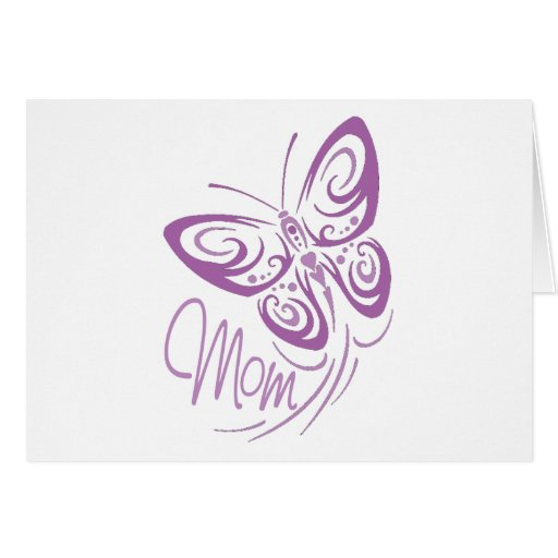Mom Butterfly Greeting Card