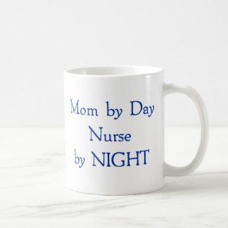 Mom by Day Classic White Coffee Mug