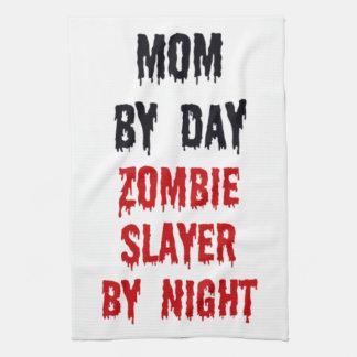 Mom by Day Zombie Slayer by Night Towel