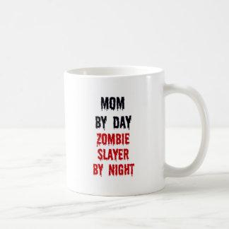 Mom By Day Zombie Slayer By Night Classic White Coffee Mug