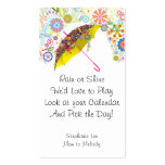 Mom Calling Card Umbrella 2013 Calendar Template Double-Sided Standard Business Cards (Pack Of 100)