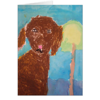 """Mom, can we get a dog? (Watercolor & Oil Pastels) Cards"