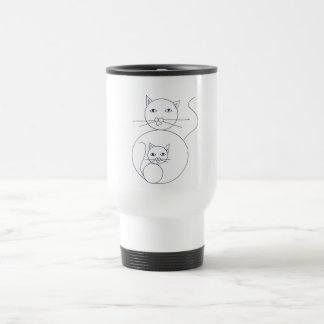 Mom  cat with kitten travel mug