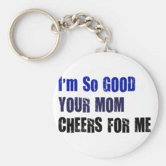Mom Cheers Basic Round Button Keychain