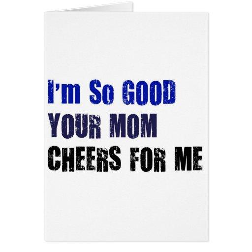 Mom Cheers Greeting Card