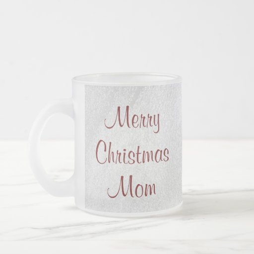 Mom Christmas Love 10 Oz Frosted Glass Coffee Mug