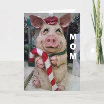 MOM=CHRISTMAS PIGGY-NO MARKET-JUST CHRISTMAS WISH HOLIDAY CARD