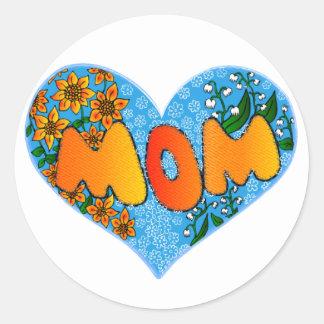 mom classic round sticker
