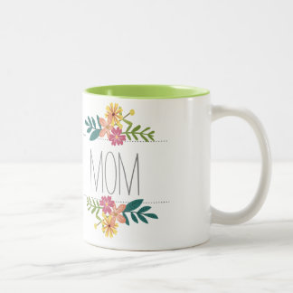 Mom Coffee Mug with Flowers