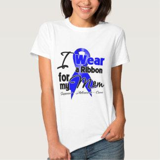 Mom- Colon Cancer Ribbon Tee Shirt
