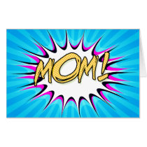 Mom! Comic Book, Pop Art Poster Card