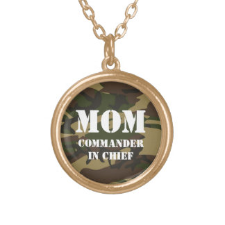 Mom, commander in chief gold plated necklace