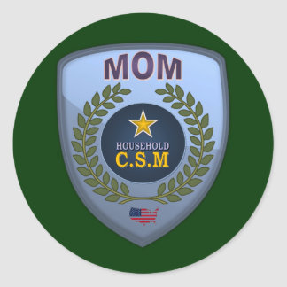 MOM CSM CLASSIC ROUND STICKER
