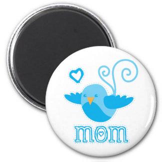 mom cute birdy 2 inch round magnet