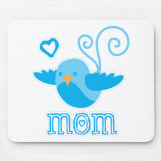 mom cute birdy mouse pad