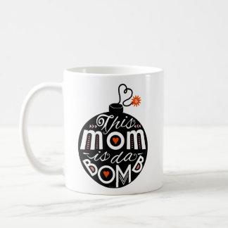 Mom da Bomb Cute Mother's Day Whimsical Typography Coffee Mug