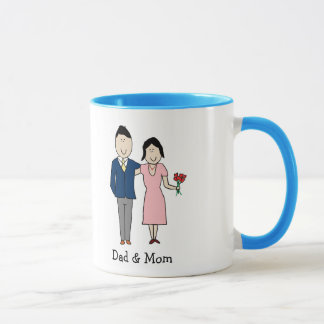 Mom & Dad - custom cartoon mug