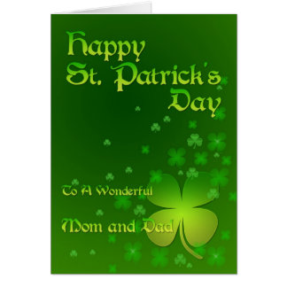 Mom & Dad, Happy St Patrick's day card