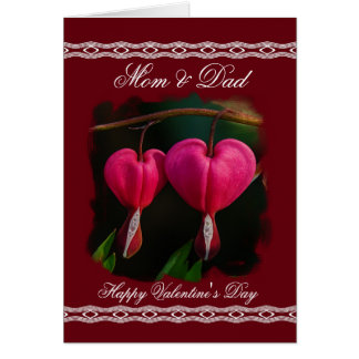 Mom/Dad Happy Valentine's Day - Bleeding Hearts Card