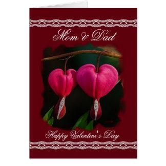 Mom/Dad Happy Valentineu0026#39;s Day   Bleeding Hearts Card